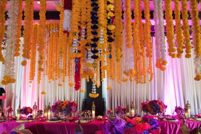 Moroccan+Inspired+Baby+Shower+Party+stunning+hanging+florals