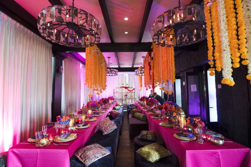 Moroccan+Inspired+Baby+Shower+Party+view+from+the+front+of+the+room